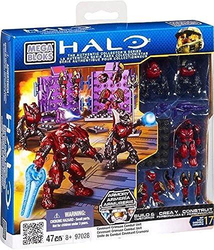 marca de lujo Halo Mega Mega Mega Bloks  Covenant Crimson Combat Unit  descuento de ventas en línea