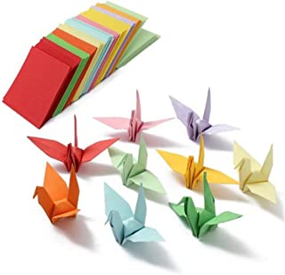 amzmonnsuta 520PCS 折り紙 両面 千羽鶴用 おりがみ 単色 手作り 折紙 5x5cm