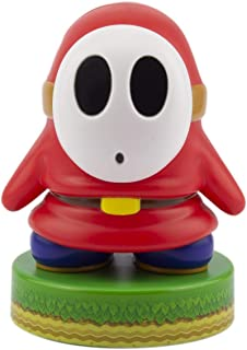 Paladone Super Mario Shy Guy 3D Icon BDP | Producto Oficial Coleccionable Nintendo | Idea de Regalo único | Luz Nocturna Brillante o lámpara de Escritorio | Funciona con Pilas 2 x AAA, Blanco