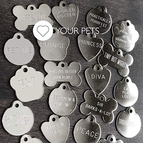 Deep Engraved Stainless Steel Dog Tag Pet ID Tags-Engraving will last! Over 6 Million Sold-Now Selling on Amazon! Most Ship Next Day-Pet Tags, Dog Tags, Cat Tags Made in The USA (Stainless, Dog Tag)
