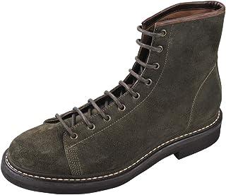 BRUNELLO CUCINELLI Chaussures Homme Vert foncé 100% Cuir Bottes Chukka 44