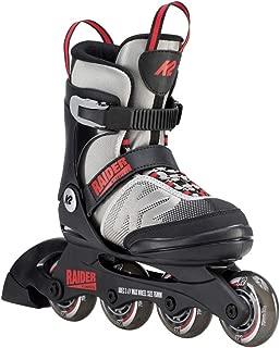 K2 Skate Youth Raider Inline Skates, Gray/Red