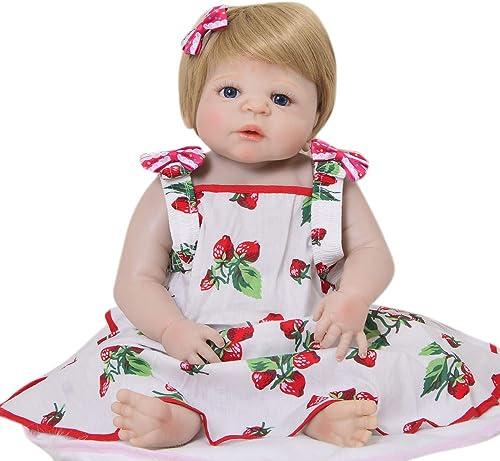 ZBYY Reborn Babypuppen Simulation Emuliert Puppe Spielzeug Baby 22Zoll 57cm Geschenke Für Neugeborene Spielzeug
