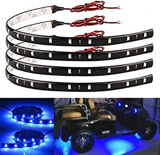 EverBright 4-Pack Blue Led Strip Lights for Cars, 30CM 5050 12-SMD Waterproof Car..