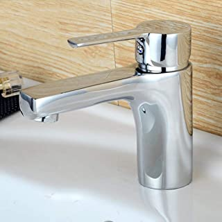 LNDDP Basin Tap Stunning Waterfall Bathroom Sink Monoblock Mixer Faucet Chrome Hot and Cold Mix Copper Body Washbasin Faucet Basin Faucet