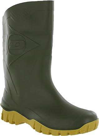 MENS GREEN DUNLOP WELLINGTON BOOTS WELLIES WIDE CALF UK11 : boots