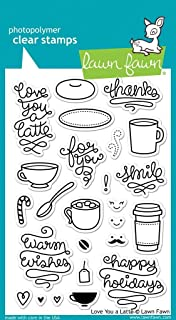 """Lawn Fawn Clear Stamps 4""""x6""""-love You A Latte"""