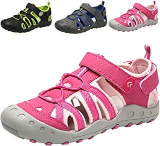 DADAWEN Boys Girls Closed-Toe Breathable Athletic Outdoor Summer Beach Sandals(Toddler/Little Kid/Big Kid)