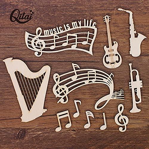 OUDE Guitarra de la Caja 55PCS / / Arpa/Nota Musical de Madera Crafts de segmentos para la melodía y litografías Hecha a Mano Decoración WF322