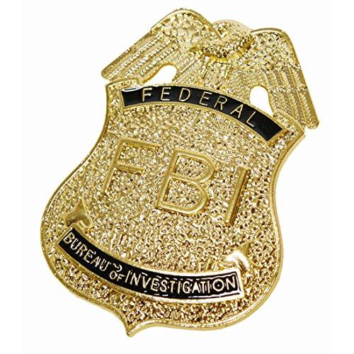 NET TOYS FBI Marke Special Polizei Abzeichen US Police Batch USA Polizisten Dienstmarke Polizeimarke Anstecker Polizeiabzeichen Schmuck Karneval Kostüme Accessoires