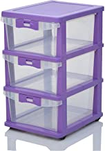 Nilkamal Chester 23 Series Plastic Three Drawer Cabinet (Multicolour)