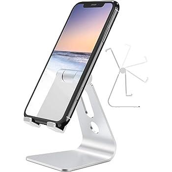 Nulaxy スマホスタンド ホルダー アルミ製 角度調整可能 卓上 iphone スタンド 充電可能 4~10インチ対応 iPhone, iPad, Samsung Galaxy, Sony, Nexus A2 銀