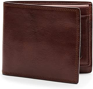 Bosca Mens Dolce Collection - Credit Wallet w/I.D. Passcase Dark Brown Wallets