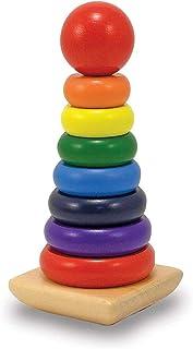 7 rings pole   skills Development, intelligence, educational, IQ, STEM & Montessori wooden toys for Babies, Toddlers, kids...
