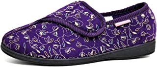 Dunlop Bluebell Womens Floral Print Touch and Close Slippers