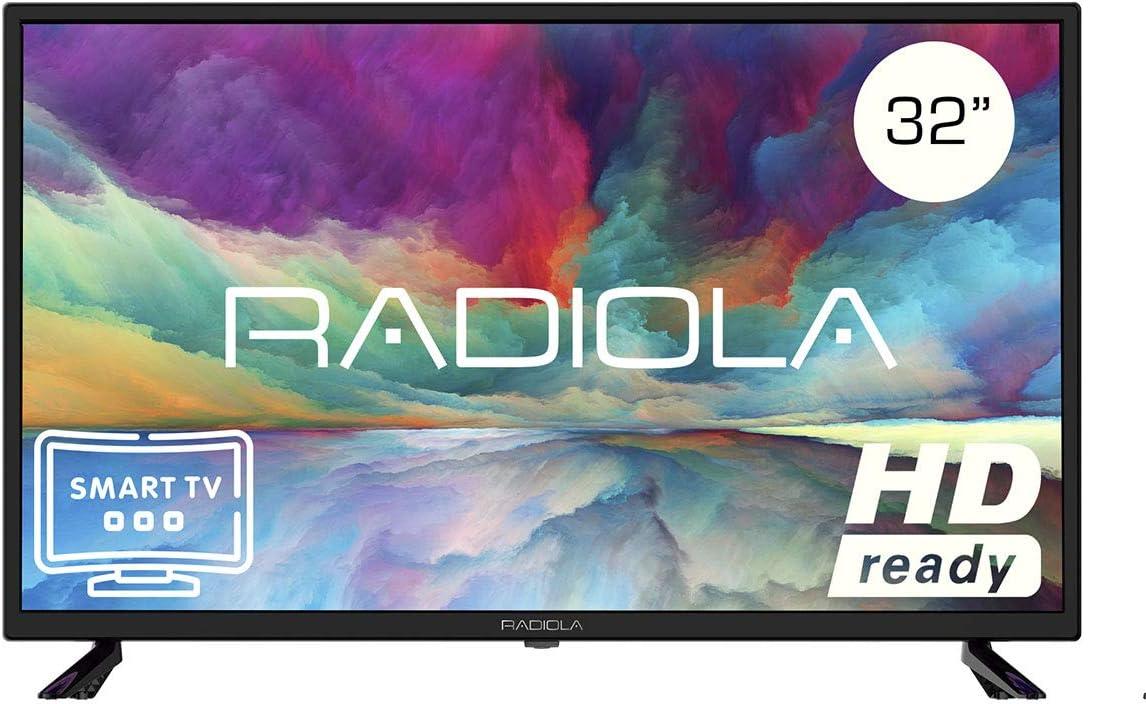Televisor Led 32 Pulgadas HD Smart TV. Radiola LD32100KA, Resolución 1920 x 720P, HDMI, VGA, WiFi, TDT2, USB Multimedia, Color Negro: Amazon.es: Electrónica
