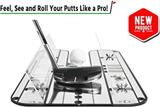 Premium Golf Putting Alignment Mirror | All-in-One Value Pack Practice Putting Aid - Golf Training Aids to Improve All Aspects of Your Stroke