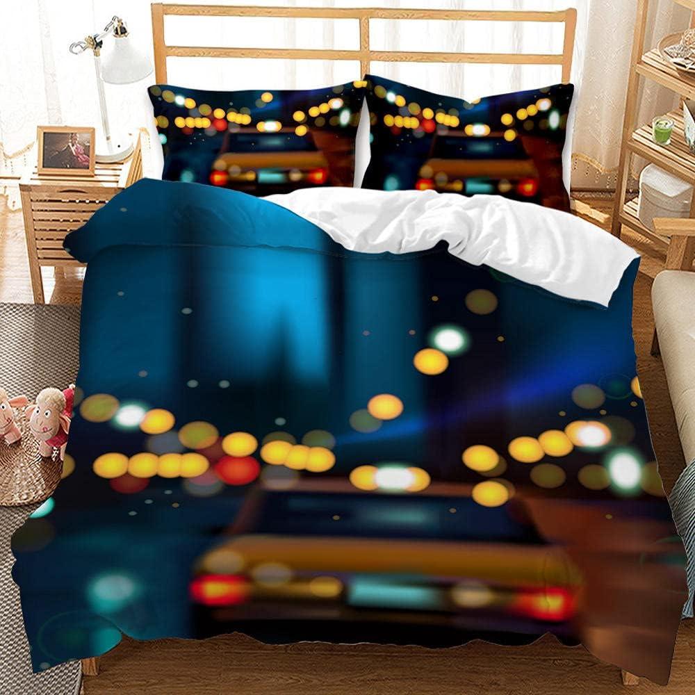 MJWLKJ Duvet Super popular specialty store Portland Mall Cover Set Locomotive 3D Print Comforter Bedding