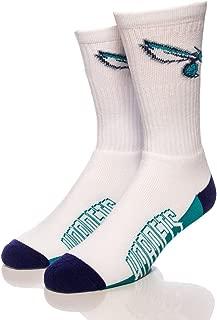 For Bare Feet Charlotte Hornets Crew Socks
