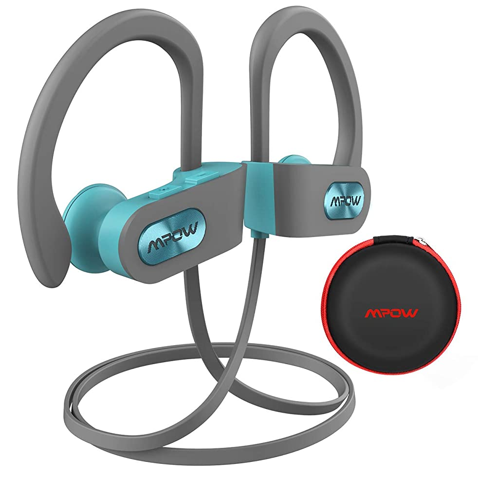 Mpow Flame Bluetooth Headphones with Case, Bassup Technology HiFi Stereo in-Ear Wireless Earbuds, Waterproof IPX7 Wireless Earphones w/Mic, 7-9 Hrs Playing Time Sport Headphones for Workout, Running