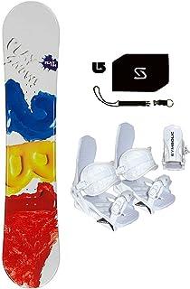 Symbolic 154cm Play 2B1 Red Snowboard +White Bindings Package +Leash+Stomp+ Burton Decal
