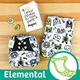 bumGenius Elemental 3.0 All-in-One One-Size Cloth Diaper with Organic...