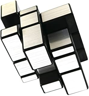 FCBB 3x3x3 Mirror Silver Speed Cube Puzzle Black