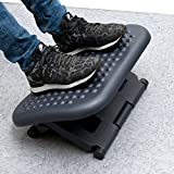 Mind Reader LEGUP-BLK Rest, Ergonomic Foot, Pressure Relief for Comfort, Back, and Body, Black