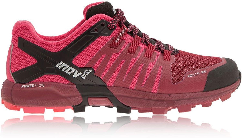 Inov8 Women's Roclite 305 Trail Running shoes Dark Red Pink Black W6