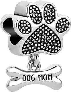 Love Pet Dog Mom Charms Beads for Bracelets