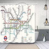 Romance-and-Beauty Map Decor, City Subway of...