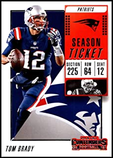 2018 Panini Contenders Season Tickets  36 Tom Brady NM-MT New England  Patriots Official 12ea00adc