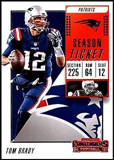 2018 Panini Contenders Season Tickets #36 Tom Brady New England Patriots NFL Football Trading Card