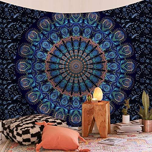 WERT Mandala patrón Tapiz Indio Colgante de Pared decoración Elefante Toalla de Playa Bohemia Manta Fina Estera de Yoga A16 200x180cm