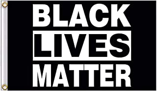 WENWELL 3x5Ft Black Lives Matter Flag,BLM Peace Protest Yard Sign,Outdoor Banner Pennant,Polyester Nylon Flag with Brass Grommets and Double Stitched