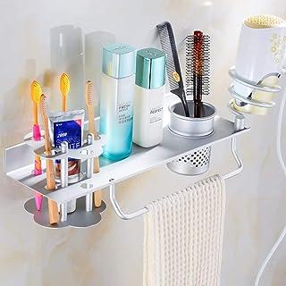 CHUTD Support sèche-Cheveux étagère sèche-Cheveux étagère de Rangement Suspendu pour étagère de Salle de Bain -A