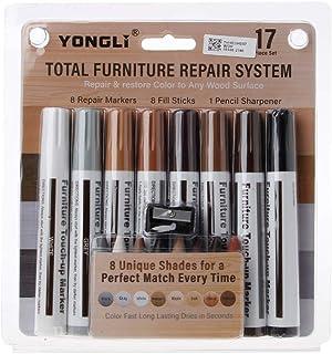 Fewxdsad - Juego de 17 rotuladores y palos de relleno para reparar arañazos de madera