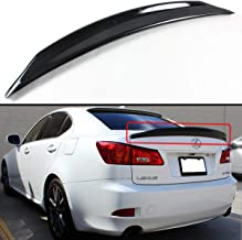 Cuztom Tuning Fits for 2006-2013 Lexus IS250 IS350 ISF JDM Glossy Black Duckbill Duck Tail HIGHKICK Trunk Lid Spoiler