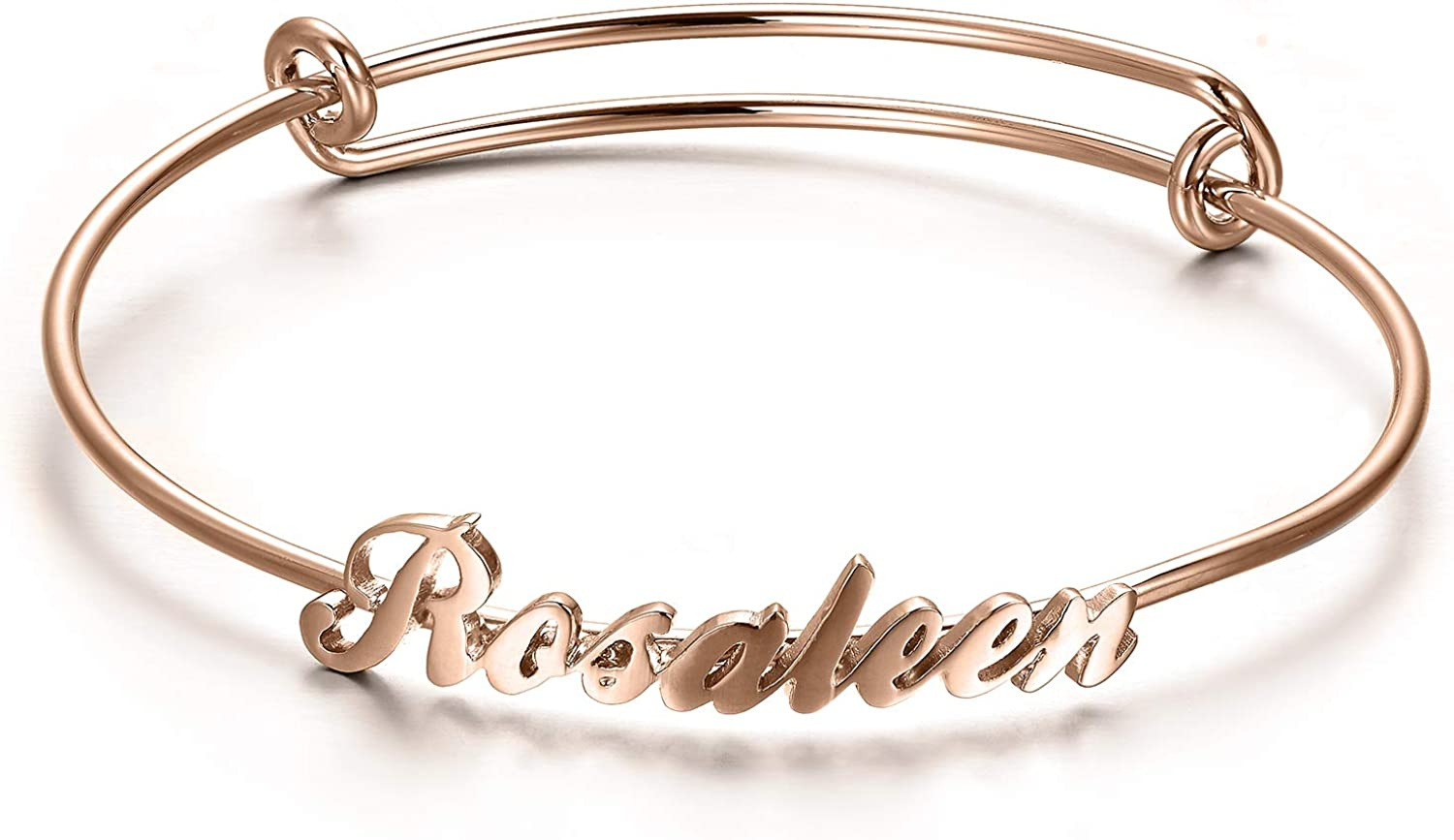 RMREWY Sterling Silver Name Handmade Indianapolis Mall Engra Bracelet Finally popular brand Personalized