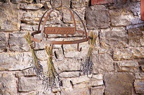 Esschert Design Kräutertrockner, Gewürztrockner in rostbraun, rund, Ø ca. 38 cm - 2