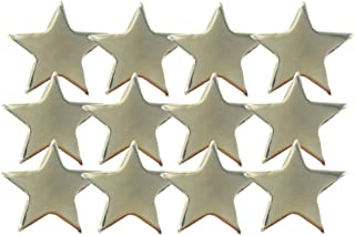 3/4 Inch Gold Star Lapel Pin - Package of 12, Poly Bagged