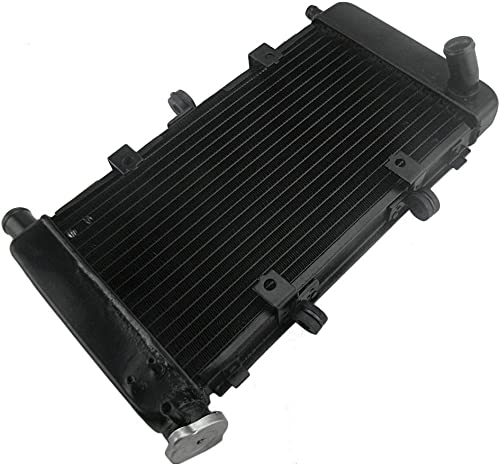 high quality Mallofusa Motorcycle Engine Radiator Cooling Cooler Compatible for Yamaha FZ6 2004 2005 2006 popular 2007 2008 2009 2010 high quality Black outlet online sale