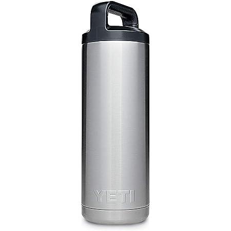 [(イエティ) YETI][ランブラー 532ml ステンレス鋼二重 壁真空断熱材 ウォーターボトル (日本未発売カラー), ステンレス Rambler 18oz Vacuum Insulated Bottle, Stainless Steel] (並行輸入品)