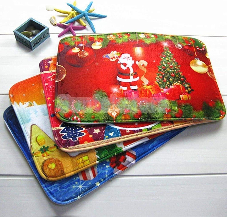 Doormat  3   Christmas Non Slip Floor Entrance Door Bath Mat Indoor Carpet Doormats Decor