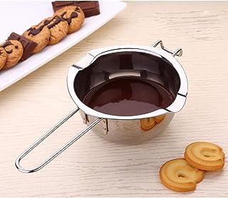 Cacerola cazo para baño María de acero inoxidable con 2 boquillas, 14cm, Para derretir chocolate, mantequilla, queso by ARTUROLUDWIG