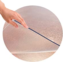 YYQIANG Table Pads, Table Cover Protector Frosted Waterproof Anti-Scald Round Shape Coffee Table Pad,2 Thicknesses, 11 Siz...