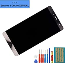 New LCD Screen Compatible with Asus Zenfone 3 Deluxe ZS550KL Z01FD LCD Touch Screen Display Assembly + Tools(Gold)
