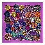 Aututer Nueva bufanda de seda de imitación de sarga de moda para mujer bufanda cuadrada grande de 130 cm bufanda de mantón de impresión