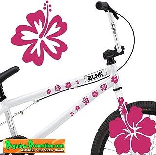 24 teiliges Fahrrad Hibiscus Aufkleber Hibiskus Blumen Schmetterlinge BikeCyrcle