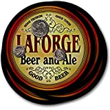 ZuWEE Brand Classic Beer & Ale Coaster Set Personalized with the Laforge Family Name